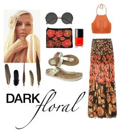 """""""In Bloom: Dark Florals"""" by ivana-andrejic ❤ liked on Polyvore featuring Lanvin, Chanel, Ace, Tory Burch, Spiritual Hippie, Mineheart and darkflorals"""