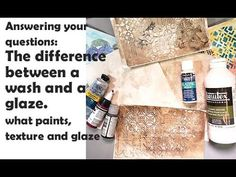 The difference between a wash and a glaze & paint options for both -question & answer series 3 13 20 Windsor Newton, Matte Medium, Sunday Inspiration, Glaze Paint, Art Journal Techniques, Liquitex, Fluid Acrylics, Series 3, The Creator