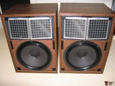 These are electrostatic hybrid speakers.  Conventional woofers for low frequencies, and electrostatic panels for mids and highs.  An early attempt by Janszen to achieve the best of both worlds.