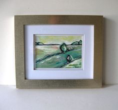 ORIGINAL Abstract Acrylic Landscape Painting Pastel by BrookeHowie
