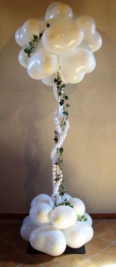 Arreglo para boda de globos