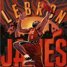 LeBron James 'Red Hot' Illustration