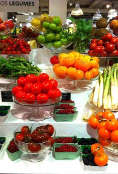 Fruits and vegetables at Le Bon Marché, Paris