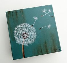 10. Robin Egg Blue Dandelion Fluff - 31 Paintings You Can Copy for…