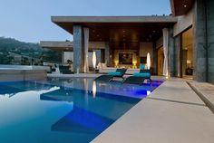 Blue Jay Residence, casa de lujo en Hollywood, Diseño: Lori Dennis Ubicación: Sunset Strip, Hollywood Hills in Los Angeles, USA