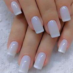 Pretty light blue grey nails