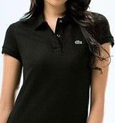 Lacoste Polo Shirt Black Women---Chemise Lacoste Polo Black Femmes