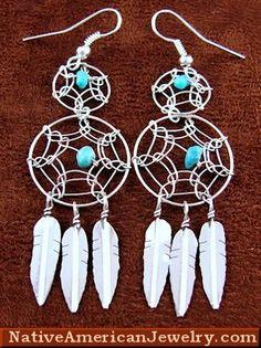 Native American Jewelry | Turquoise Earrings | Navajo Dream Catchers | Silver Earrings