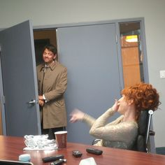 This is what happens when Misha Collins crashes Ruth Connell's interview. #Supernatural