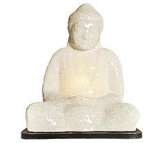 Large Sitting Buddha Lamp - White [ID 1123013]