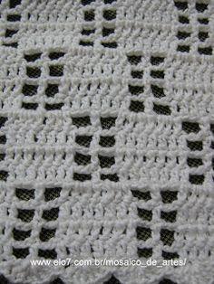 Mosaico de Artes: Passadeira de crochê