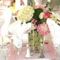 Summer Wedding Hydrangea Table Garland | AllFreeDIYWeddings.com