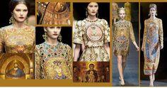 Sotto, l'ispirazione dal famoso mosaico ritraente l'imperatrice Teodora (Costantinopoli, 14 marzo 497 – Costantinopoli, 28 giugno 548)