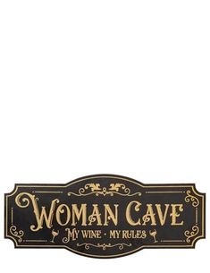 Embellished with gold lettering, this cheeky sign belongs in every she-shed or woman cave. Girl Cave, Babe Cave, Woman Cave, Victorian Wall Decor, Victorian Design, Craft Room Signs, Craft Rooms, Shed Signs, Victorian Trading Company