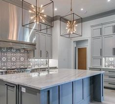 Awesome Kitchen Island Lighting Ideas Star Square Large Pendants Interior