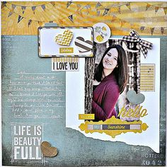 #papercraft #Scrapbook #layout   Life is Beauty Full! - Scrapbook.com