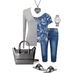 june 3 of 2016 by megschneider on Polyvore featuring Pure Collection, Chaps, Tory Burch and Calvin Klein