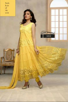 Style rush! CODE: T YELLOW OFFER : FLAT 500 OFF PRICE: INR 3299/- semi stitched, georgette
