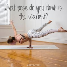 Hanstand? Crow Pose? What's the scariest pose for you?   Photo by awesome DYY ambassador @yogogirls