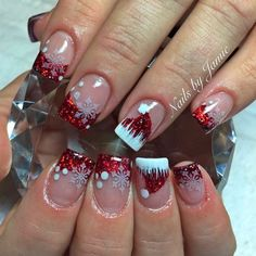 Christmas Nail Art Designs Which Are perfect for the Holiday Season Christmas Nail Art Designs Which Are perfect for the Holiday Season Christmas nails are that necessary component of your good vacation. Christmas Tree Nails, Xmas Nail Art, Holiday Nail Art, Xmas Nails, Christmas Nail Art Designs, Red Nails, Valentine Nails, Holiday Makeup, Halloween Nails
