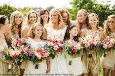 Shannon Lee Miller photography- bridal party bouquets, romantic and spring feel