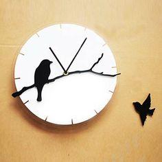 Horloge 3D oiseaux