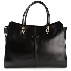 Tod's Sella Tote ($1,319) ❤ liked on Polyvore featuring bags, handbags, tote bags, black, genuine leather handbags, tod's tote bag, genuine leather tote bags, handbags totes and tods tote