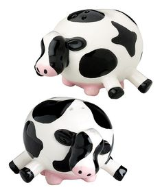 Boston Warehouse Udderly Cow Salt Pepper Shakers By