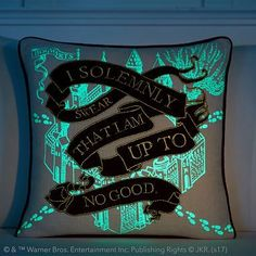 Harry Potter Marauder's Map Glow In The Dark Pillow Cover #pbteen
