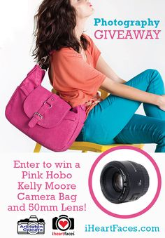 50mm Lens and Camera Bag #Photography #Giveaway from Arlington Camera at iHeartFaces.com! (Value $568) Ends March 9, 2014