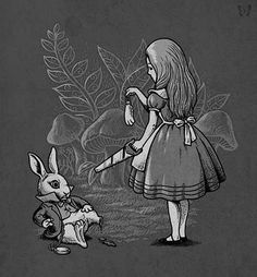 "Alice's Lucky Rabbit Foot by Ben6835 --- ""You used to be much more…""muchier."" You've lost your muchness.""  — Lewis Carroll (Alice in Wonderland)"