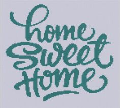 Home Sweet Home 2 Cross Stitch Pattern | Craftsy