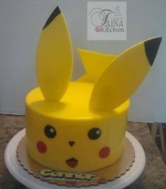 This is going to be my daughter's birthday cake this year! Pikachu Cake I Taina Kitchen I Pokemon Cake Bolo Pikachu, Pikachu Cake, Pokemon Go Cakes, Pokemon Party, Pokemon Birthday Cake, Birthday Cakes, Fondant Cakes, Cupcake Cakes, 10th Birthday Parties