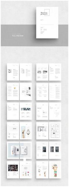Portfolio by AlfianBrand™ on Creative Market - Brochure Templates - Buch Web Design, Website Design, Page Design, Portfolio Design, Portfolio Book, Hipster Design, Book Design Layout, Print Layout, Typography Layout