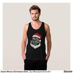 Santa Merry Christmas Everyone | Tank Top