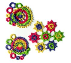50 years of flower power - a freeform crochet and knit artwork
