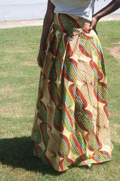 NEW Julius holland Wax AFRICAN FABRIC Long Skirt Women Wedding on Etsy, $120.00