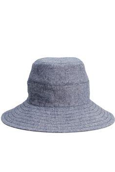 Tsuyumi Linen Cotton Chambray Wide Brim Hat