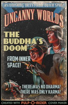 We found the most awesome website in the universe. It lets you create your own pulp covers. Joe T.'s been having a lot of fun today....
