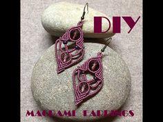 Diamond Earrings / Diamond Studs in Gold / Evil Eye Diamond Earrings / Evil Eye Jewelry / Gold Jewelry / Gift for Her - Fine Jewelry Ideas Macrame Earrings Tutorial, Micro Macrame Tutorial, Earring Tutorial, Macrame Necklace, Macrame Bracelets, Bracelet Tutorial, Macrame Knots, Loom Bracelets, Friendship Bracelets