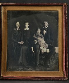 Oversized Half Plate Daguerreotype Portrait of a Family