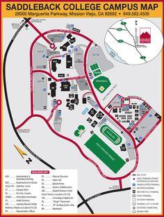 Saddleback College Campus Map
