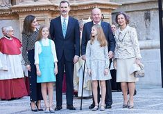 On April 1, 2018, King Felipe VI of Spain, Queen Letizia of Spain, former King Juan Carlos, former Queen Sofia, Crown Princess Leonor and Infanta Sofía attended the Easter Mass at the Cathedral of Palma de Mallorca in Palma de Mallorca, Spain.