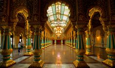 The palace of Mysore, official residence of the Wodeyars, the royal family. Photograph: Felix Hug/Corbis