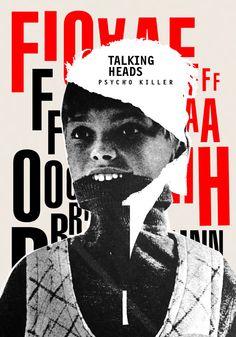 Talking Heads / sérigraphie affiche par ivvanski sur Etsy