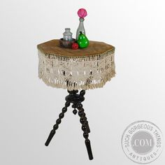 Antique Gypsy Wine Lamp Side Occasional by SuchGorgeousThings, £385.00