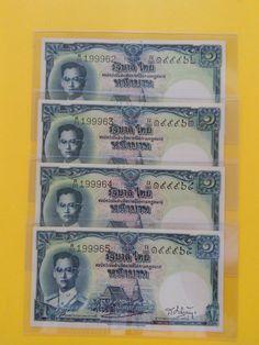 SOLD OUT ธนบัตร 1 บาท แบบ 9 รุ่น 3   ลายเซ็น เภา-เสริม   สภาพไม่ผ่านการใช้งาน (UNC)   #ฉบับละ 300 บาท#