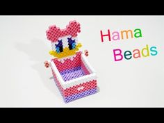 Cestino Pasquale Con Hama Beads / Pyssla | Perler Beads Easter Basket Tutorial - YouTube