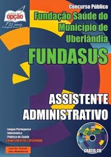 Promoção -  Apostila Concurso FUNDASUS - Assistente Administrativo  #Aprovado
