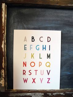 English Alphabet Poster 11x14 by simpleculture on Etsy. $13.00 USD, via Etsy.